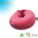 목을%s 분홍색 우단 기억 장치 거품 베개