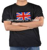Тенниска EL великобританского UK выравнивателя флага проблескивая