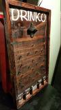 Jogo de madeira do abridor de frasco de Drinko Plinko do jogo de mesa de Mancave do partido