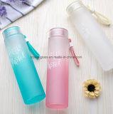 Glasflasche des getränk480ml mit Steigung-Farbe u. Plastikschutzkappe