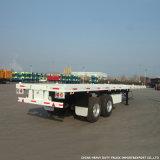 Fertigung-Verkaufs-Licht-Leergewicht 20 Fuß Behälter-flaches Bett-halb Schlussteil-