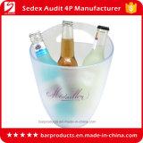 3.3L seau à glace en plastique transparent avec finition mat