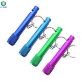 regalo de promoción Mini silbato llavero linterna LED