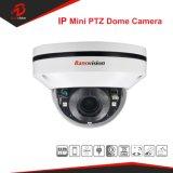 5MP 3x Mini câmara PTZ dome IP com objectiva motorizada