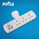 O conceito Poka Tomada Extensão de tipo T com 2 porta USB