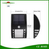 ステンレス製の屋外PIRの動きセンサーの壁ランプの太陽動力を与えられた庭ライト