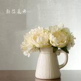 Vaas van de Ketel van het Porselein van de Vaas van het Decor van de Desktop de Moderne Ceramische Witte Kleine