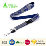Keychainのための金属のバックルが付いている試供品のカスタム単一の味方された印刷された反射締縄