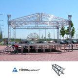 Haut de la qualité promotion bon marché en plein air l'étape de la structure de treillis en aluminium