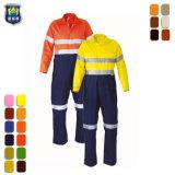 Tute arancioni fluorescenti di sicurezza con nastro adesivo riflettente per l'uniforme di estrazione mineraria