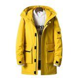 Rivestimento esterno della neve di usura riempito Windbreak del cappotto di inverno di 2019 abitudini giù per il Mens