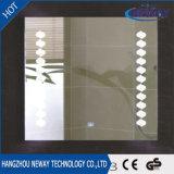 Silver vanité Salle de bains LED personnalisée Smart Miroir éclairé