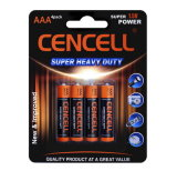 Батарея AAA цинка углерода супер силы
