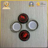 Botella de cerveza de cristal ambarina del casquillo de corona 330ml (012)