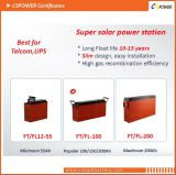 la mejor batería terminal delantera del gel de 12V 55ah para el ferrocarril, telecomunicación, UPS