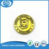 Moneta su ordinazione fusa sotto pressione del metallo di marchio placcata oro