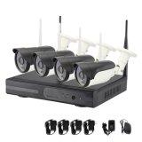 4CH Full HD P2P WiFi Wireless bullet de IV CCTV Câmara IP com 960p completar o sistema Kit CCTV