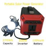 Gerador de potência portátil 300W da bateria do sistema da fora-Grade 110V/220V