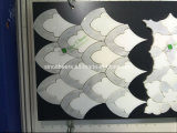 特別なデザイン白い大理石のモザイク壁のタイル