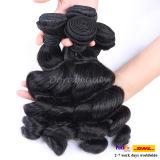 自然で緩い波状の人間の毛髪の織り方のバージンのブラジルのRemyの毛の拡張