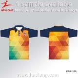 Healong Sportswear personnalisé personnalisé impression en sublimation hommes T-shirt Polo