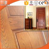 Porte intérieure solide en bois de chêne rouge de modèle américain