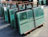 Grand verre bleu et vert pour les bâtiments (fabrication)