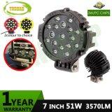 7inch 51W 까만 Offroad 반점 자동 램프 LED 모는 빛