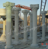 Dekorative Hunan-weiße römische Marmorierungpfosten und Spalten