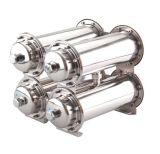4개의 단계 Stainlesss 강철 초여과 장치 물 정화기는 탄소, Kdf, 칼슘 etc. 물자와 결합했다