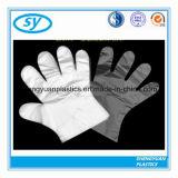 Wegwerfplastik-PET gefalteter HDPE-LDPE-medizinischer Handschuh