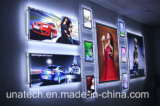 新しいデザイン壁に取り付けられたアクリルの水晶LEDのライトボックス