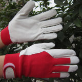 Кожаные перчатки в саду дамы садоводство работы вещевого ящика