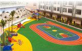 Parque Infantil Ginásio de borracha e azulejos do piso e o MAT