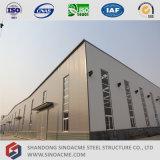 Taller prefabricado porta de la estructura de acero de la alta calidad