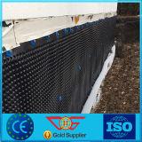 Scheda di drenaggio usata corso dell'oro e del campo di football americano HDPE/PVC