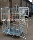 Chariot en métal revêtu de poudre pour le transport de marchandises
