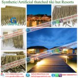 Thatch искусственной ладони PVC/PE синтетический для Thatch ладони павильона Umbralle синтетического, хаты листьев ладони, Thatch кроет at-0001 черепицей