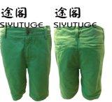 La mens algodón teñido de prendas de vestir de moda casual de verano Shorts