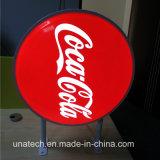 돈 그램 은행 가벼운 상자를 형성하는 광고 매체 코카콜라 Pepsi LED 표시 둥근 진공