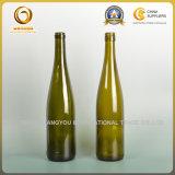 botella de vino rojo de cristal de 750ml el Rin con el corcho (009)