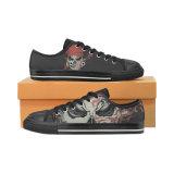 No de estilo zapatilla de deporte de encargo 026 escotado impresión unisex de lona de los zapatos ocasionales de encargo zapatillas de deporte de la lona