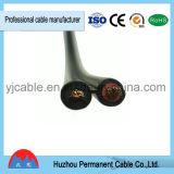 Câble solaire de picovolte du double faisceau 2*4mm2 approuvé de TUV