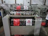 De dos líneas de sellado en caliente y corte en caliente Máquina para hacer bolsas