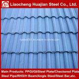 Galvanizado en caliente de cruce Prepainted techado De acero corrugado en la hoja