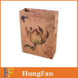 Kundenspezifische Packpapier-Einkaufstasche Brown-Mit Firmenzeichen-Druck-Geschenk-Beutel