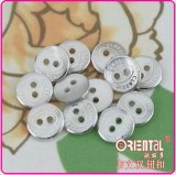 2 fori White Shirt Buttons con Vacuum Plating