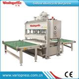 Carga y Descarga automática horizontal prensa caliente