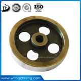 Rueda modificada para requisitos particulares de la polea del bastidor de arena de hierro labrado/gris con la pintura/la capa/el servicio que trabaja a máquina