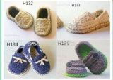 Спицы Детский обувь мягкой моды смесь для грудных детей трикотажные первой клавишного соломотряса обувь малышу сандалии детский обувь